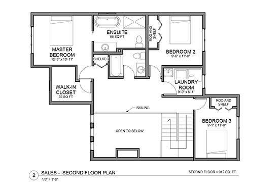 The Eleanor upper floor house plans